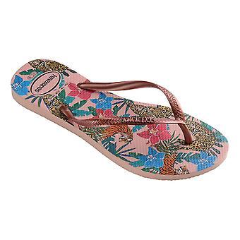 Havaianas Slim Tropical Flip Flops - Ballet Rose / Pink
