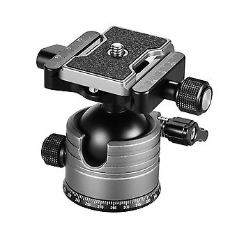 Cnc dual panoramic ball head low center of gravity single u notch design with 1/4 inch screw mount
