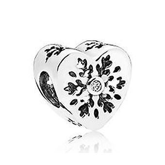 Pandora Silver Snowflake Heart CZ Bead Charm - 796359CZ