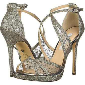 NINA Women's Fenna Ankle-High Fabric Heel