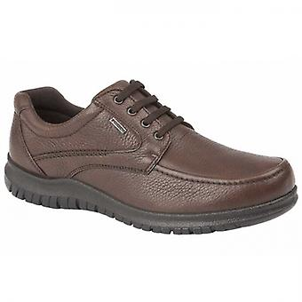 IMAC Lennie Mens Grain Leather Apron Shoes Brown