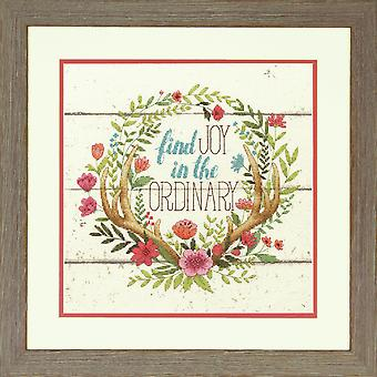 Dimensions Counted Cross Stitch Kit: Rustic Bloom