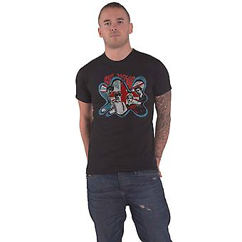 The Who T Shirt Groovy Border Distressed Band Logo new Official Mens Black