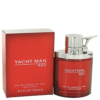 Yacht Man Red by Myrurgia Eau De Toilette Spray 3.4 oz