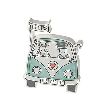 Just gift Mr & Mrs Mouse i Campervan Decoration By Heaven Sends