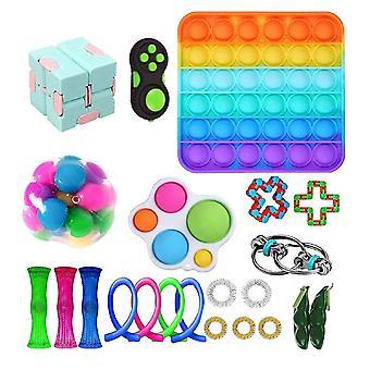 22pcs Pack Fidget Toys Sensory Toy Set Antistress Relief Fidget Toys