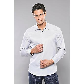 Light grey casual patterned shirt
