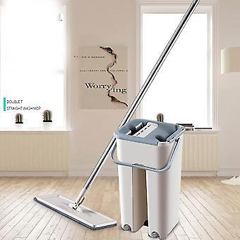 Cubo Cocina Sala de estar Herramienta de inicio Limpieza de suelos Rebote Automático Fregona plana