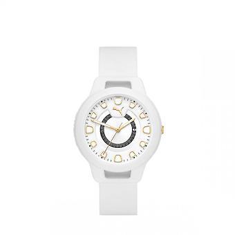 Reloj para mujer Reloj Puma P1011 - Correa de silicona blanca