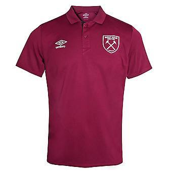 2021-2022 West Ham Poly Polo Shirt (Zifandel)