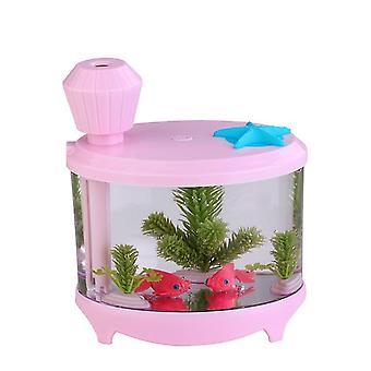 Air Humidifier Colorful Night Light USB 460ML Capacity Air Humidifier air Humidifier(pink)