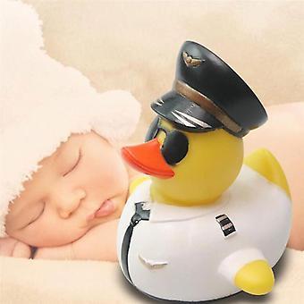 Vauva suihku kumi söpö lentäjä ankka, vauvan uinti lelu
