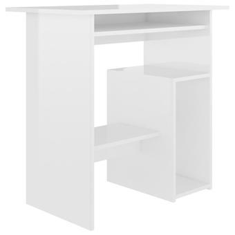 vidaXL Desk Kiiltävä Valkoinen 80 x 45 x 74 cm Lastulevy