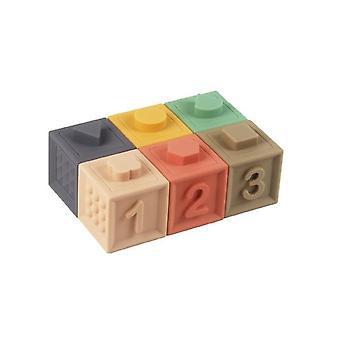 Bébé jouet blocs de construction doux 3D touch balles à main massage caoutchouc squeeze montessori
