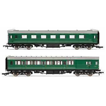 Hornby R4534E BR Pull Push Coach Pack BR Maunsell 2.