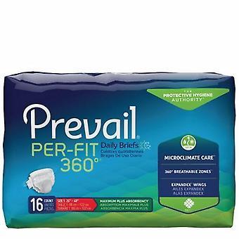 Första Unisex Adult Inkontinens briefen av högsta kvalitet råder per fit 360? Tab Stängning Medium Engångs tung absorbans, vit 16 påsar