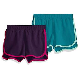 Essentials Girls 2-pack Active Running Short, Jewel/Teal, XXL