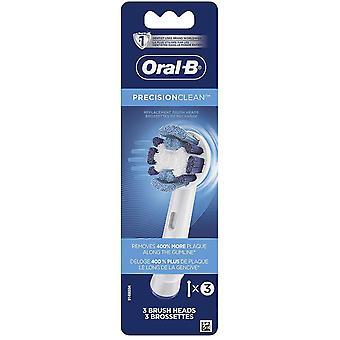 Oral-B Precision Ren ersättning Borsthuvud Påfyllning, 3 antal (vit)
