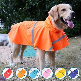 Pet regnfrakk gjennomsiktig utendørs jakke hund klær vanntett