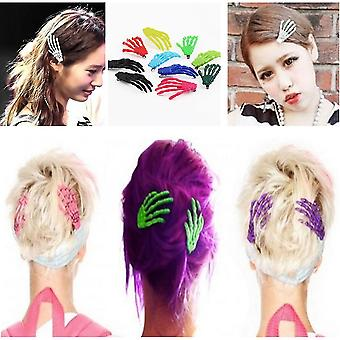 10 Pcs Cute Creepy Plastic Skeleton Hand Hair Clip Hairpin For Women Girls