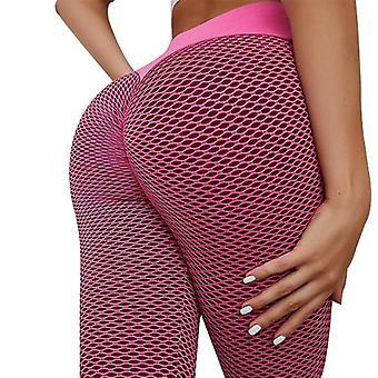 Frauen Yoga Hose, hohe Taille dünne Sporthose, nahtlose elastische FitnessHose Leggings