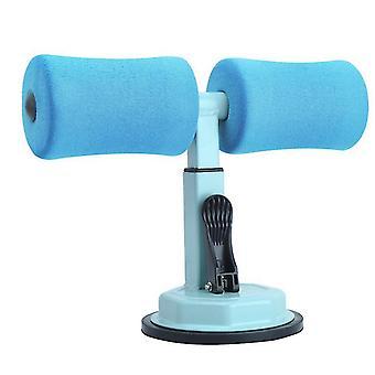 Sit-up aids Hem fitnessutrustning, sucker-typ lat buk multifunktionell buk (Blå)