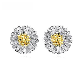 Earrings Daisy S925 Sterling Silver Ear Studs For Ceremony