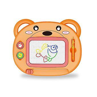 Magnetisk ritbräda för barn (Orange)