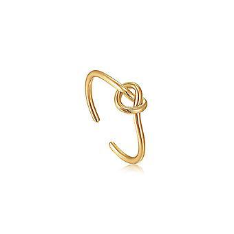 אניה היי זהב קשר טבעת מתכווננת R029-01G