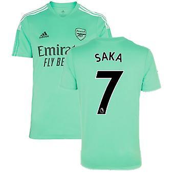 Arsenal 2021-2022 Treningsskjorte (Acid Mint) - Barn (SAKA 7)