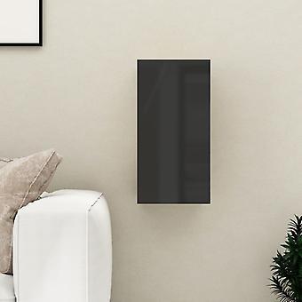 vidaXL armoire tv brillant-noir 30,5x30x60 cm panneau de particules