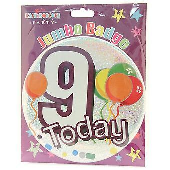 Apac Kidss/Kids Age 9 Syntymäpäiväjuhlamerkki