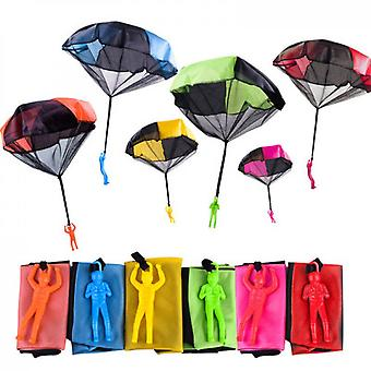 5pcs Parachute Toy Tangle Free Throwing Toy Parachute Outdoor Children's Flying Toys