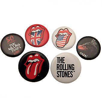 The Rolling Stones Button Badge Set