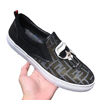 New Reflective Embroidery Trend Lazy Shoes Slip Into The Summer Men's Shoes