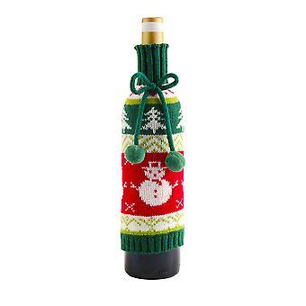 Kerst wijn fles covers sneeuwpop gebreide fles cover kerst decoraties eettafel decor