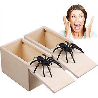 2 Pcs Prank Spider Surprise Box Piadas Divertidas Piadas Para o Halloween