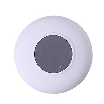 Altoparlante doccia Bluetooth, altoparlante doccia wireless portatile con microfono incorporato a ventosa (bianco)