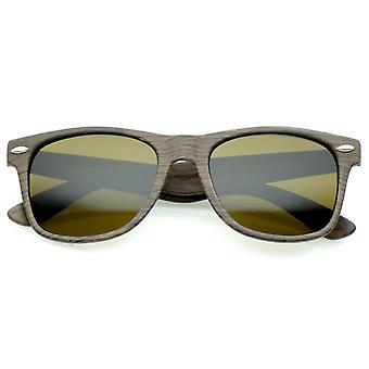 القرن الخشب المطبوع عدسة مربعة الشكل الكلاسيكي انعقدت نظارات 55 مم