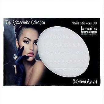 Nail art klistermärken Bnails Deco Sabrina Azzi 1 Vit Spets 110 Vit