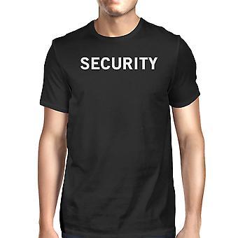 تي شيرت قميص الرسم مضحكة قصيرة الأكمام القطن المحملة رجال الأمن