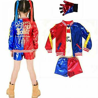Adult Girl Kids Harley Quinn Halloween Costume Suicide Squad Cosplay Fancy Dresses