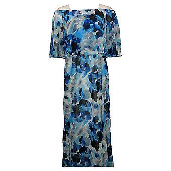 Colleen Lopez Dress Off-the-Shoulder Flutter Blue 694167