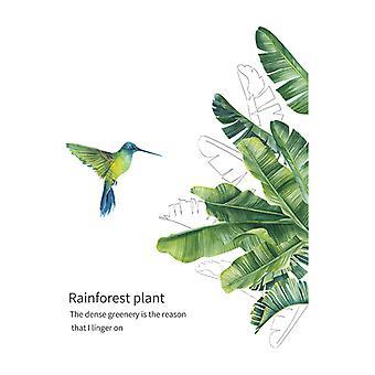 Kolibrie Groene Planten Muurstickers Decals Home Decor Wallpaper