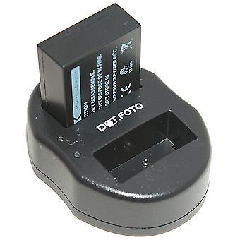 Dot.Foto Fujifilm NP-W126 batteri + Dual USB oplader