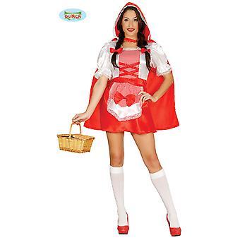 Little Red Riding Hood kostuum met een grootte van hooded Cape vrouw kostuum
