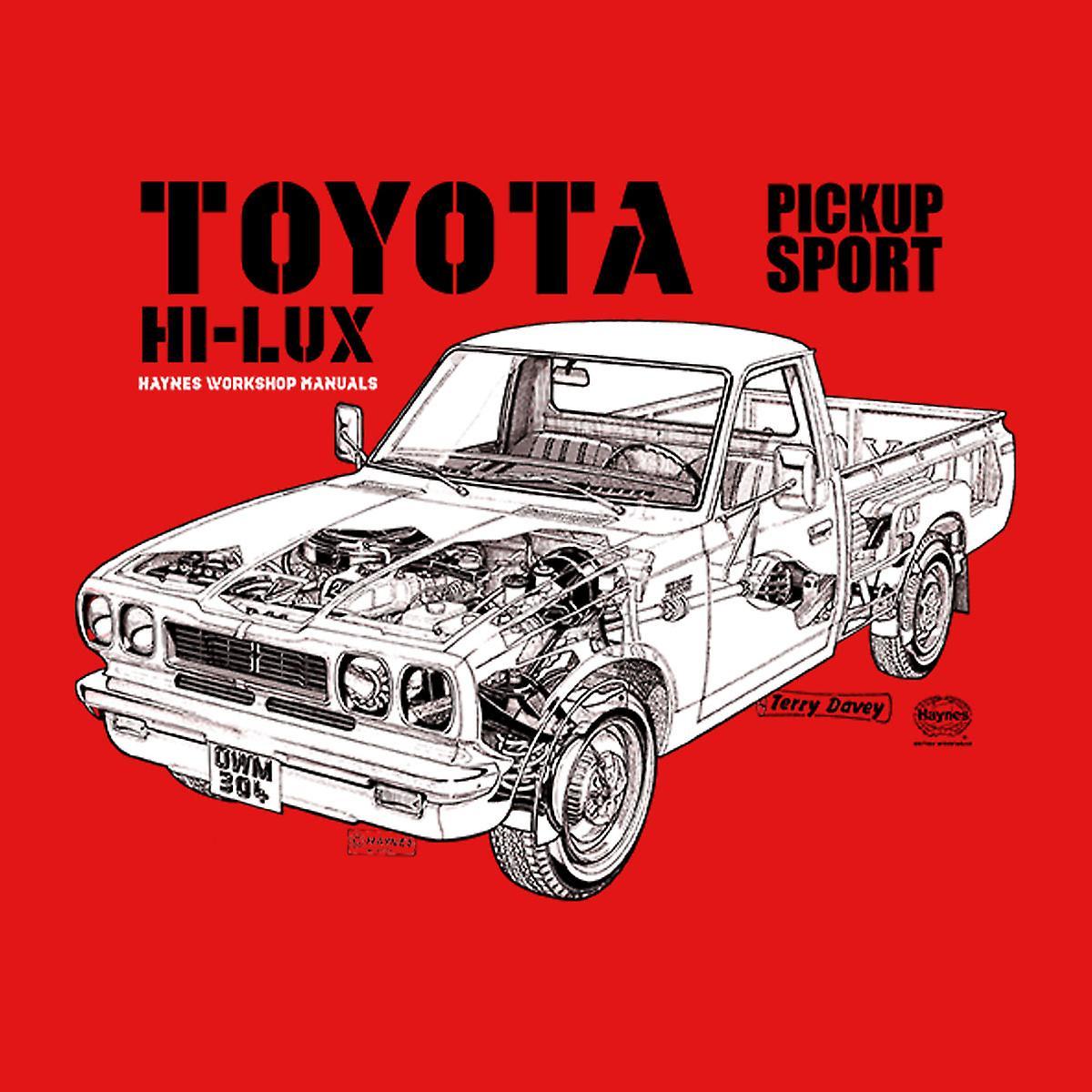 Haynes Workshop manuell Toyota Hei Lux svart menn Varsity jakke