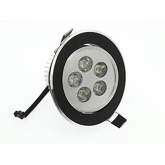 I LumoS High Quality Epistar 5 Watts Black Circle Aluminium Pure White LED Tiltable Recessed Spot Down light