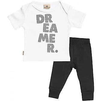 Verwend rotte Dreamer. Baby T-Shirt & Baby Jersey broek Outfit Set