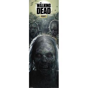 Walking Dead - Zombies - dörr Poster affisch Skriv